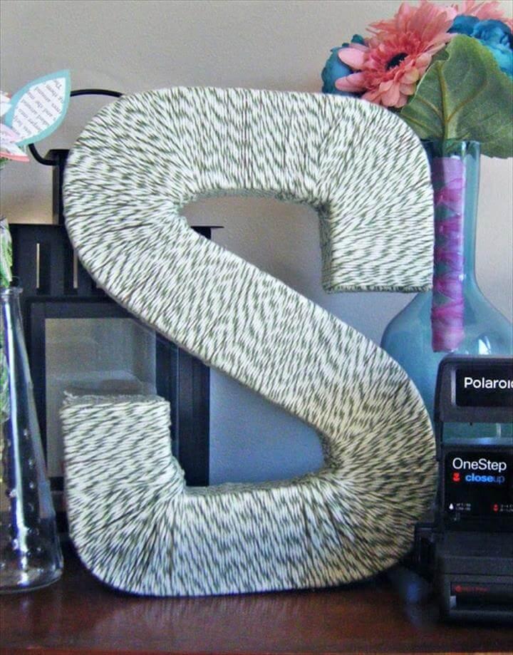 DIY: Yarn Covered Monogram Letter