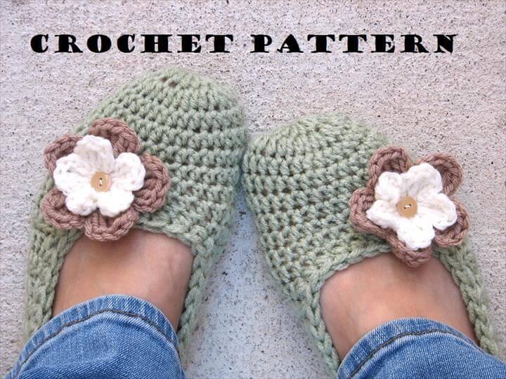 Adult Slippers Crochet Pattern PDF,Easy, Great For Beginners, Shoes Crochet Pattern Slippers