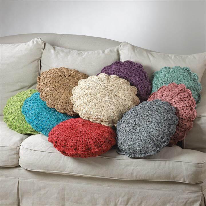 Crochet Pillow White