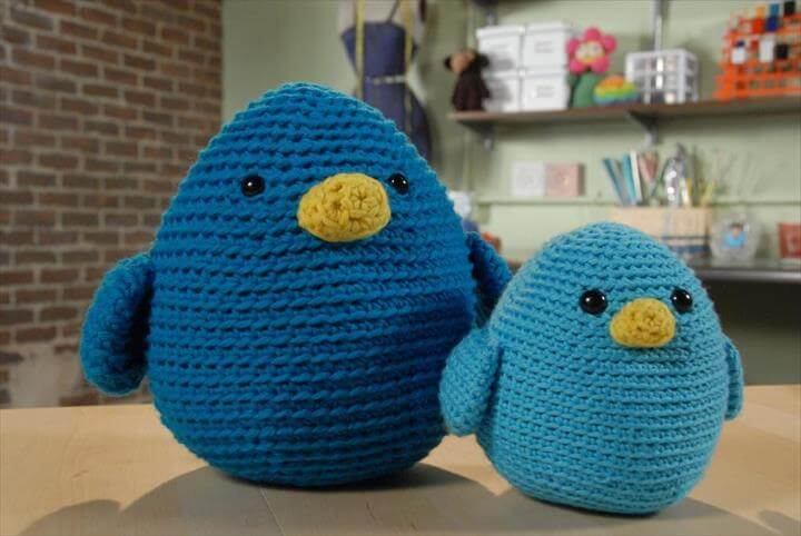 amigurumi bluebirds crochet pattern