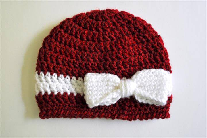 Crochet Bow Pattern for Hats