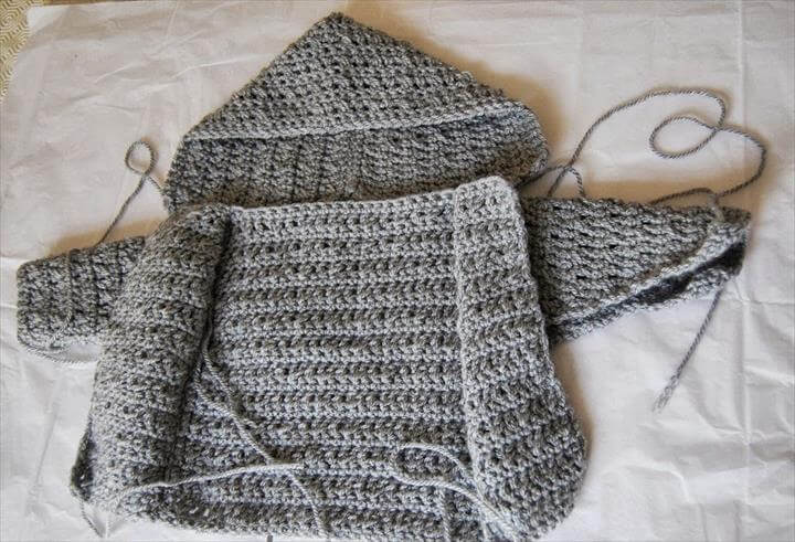 Crochet Baby Boy Cardigan pattern