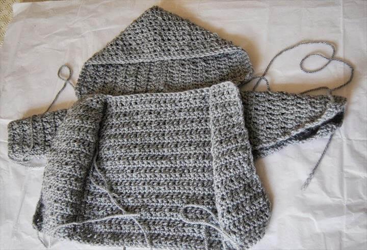 Crochet Baby Boy Cardigan pattern