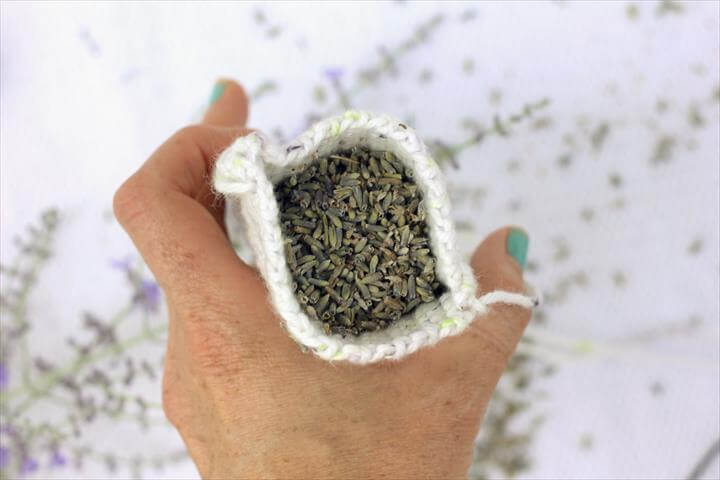 Crochet Dried Lavender Sachets