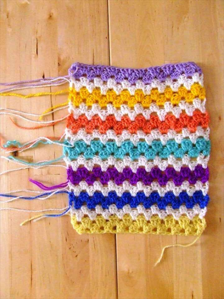 crochet granny stripes
