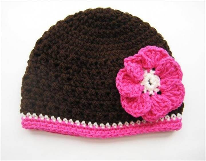 Free Crochet Patterns For Beginners Ba Hat pertaining to Crochet Baby Hat For Beginners