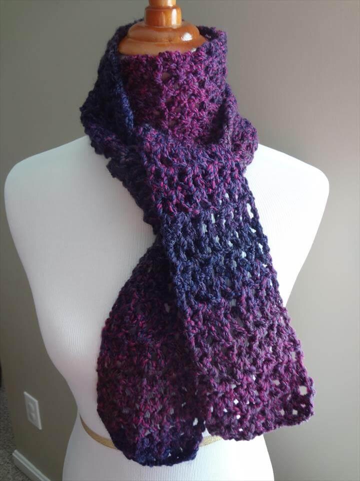 Stylish Easy Crochet Scarf for Women