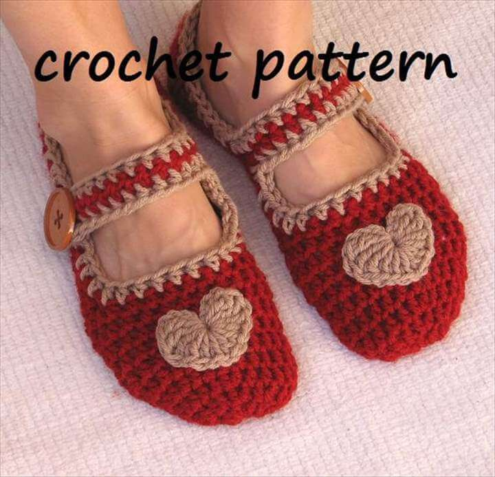 Mary Jane Slippers Crochet Pattern PDF,Easy, Great for Beginners, Shoes Crochet Pattern Slippers