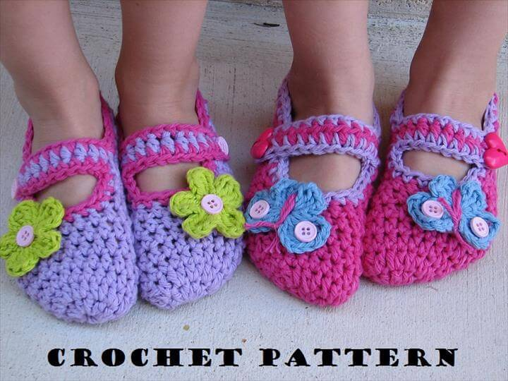 Childrens Slippers, Mary Jane Slippers, Crochet Pattern PDF,Easy, Great for Beginners, Shoes Crochet Pattern Slippers