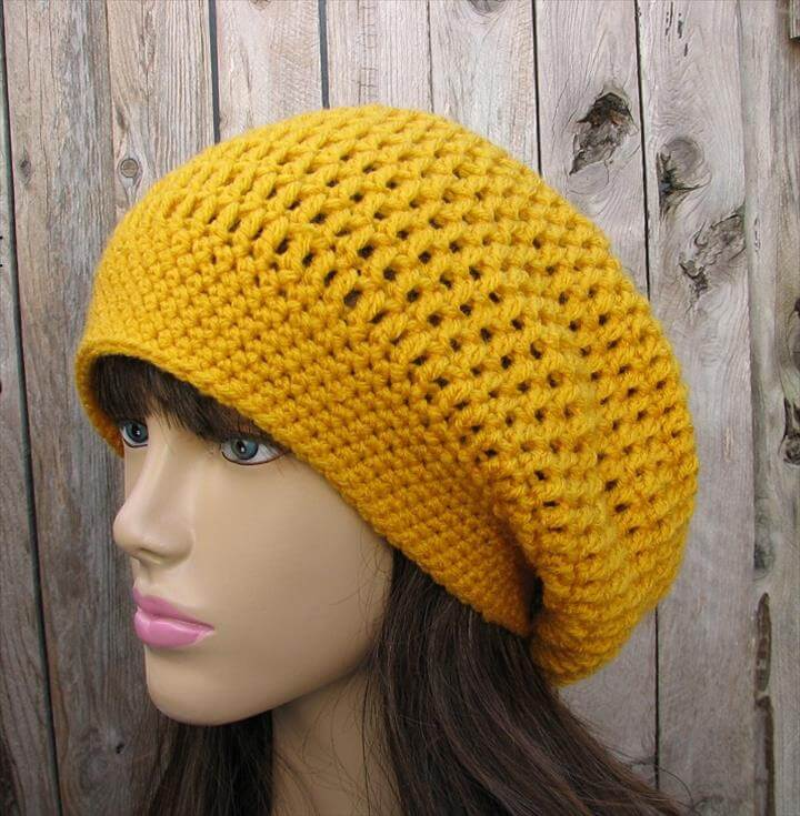 Crochet Hat - Slouchy Hat, Crochet Pattern