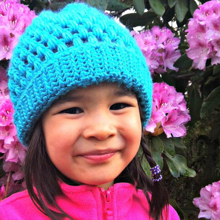 Crocheted Kids Slouch Hat Pattern From Sew