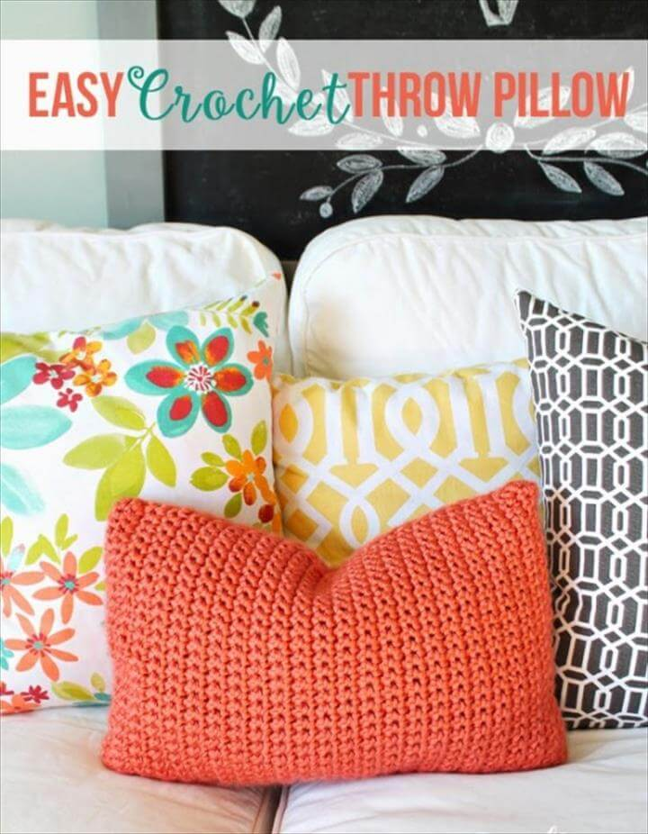 Crochet Easy Patterns for Beginners Throw Pillow FREE Pattern