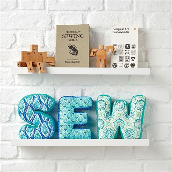 sew fabric letters tutorial.