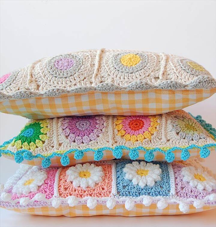 Granny square pillows free pattern
