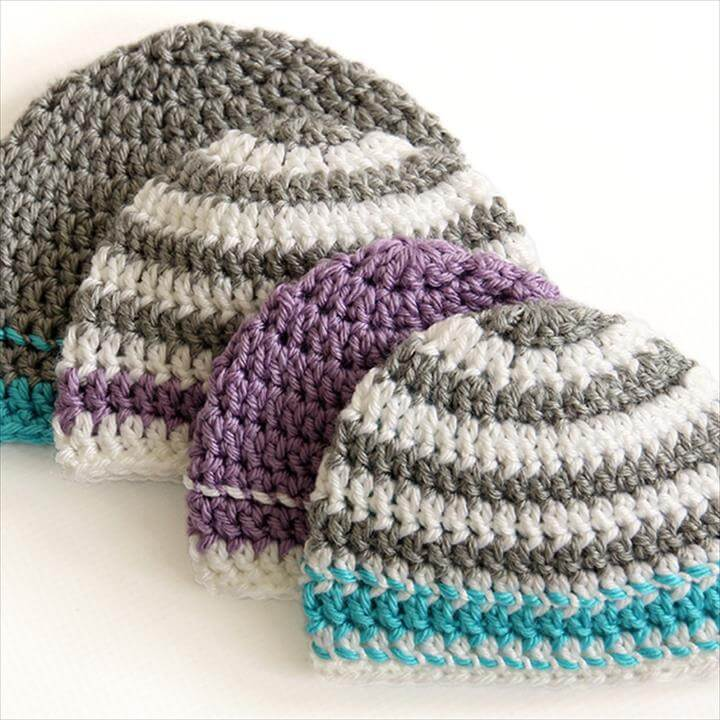 Crochet Hat Pattern - great for beginners and to donate.