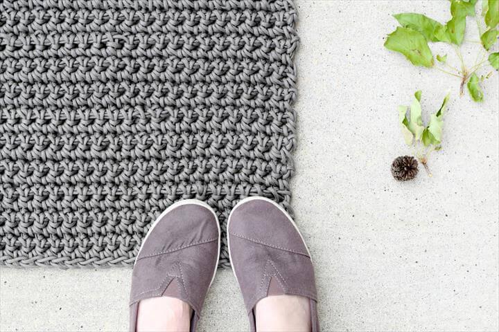 Rope Rug Crochet Free Pattern