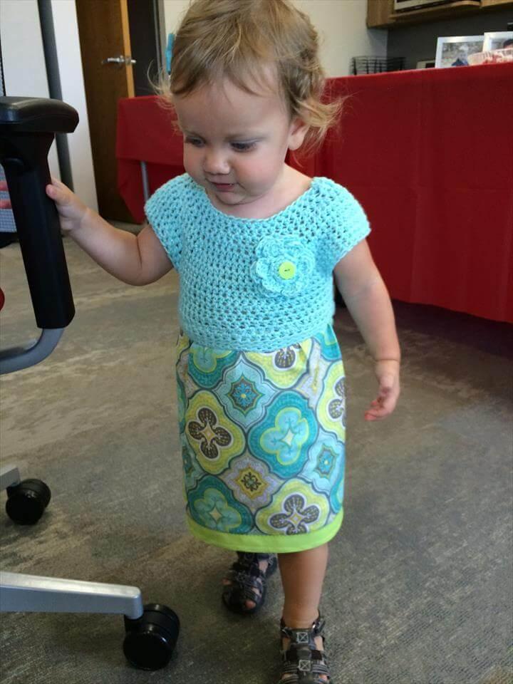 Sew Sweet Crochet Fabric Toddler Dress