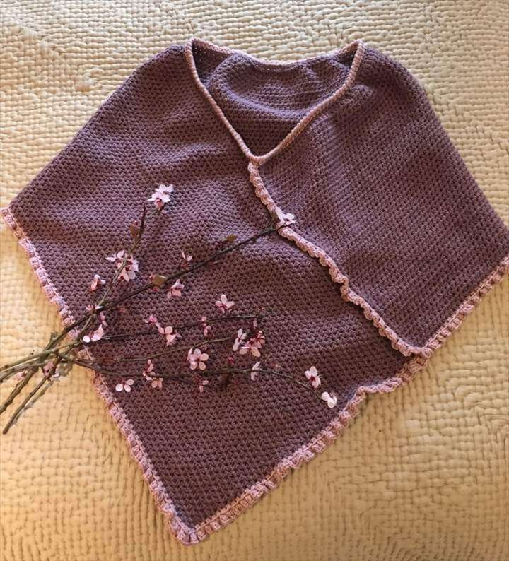 Free crochet patterns: springtime poncho