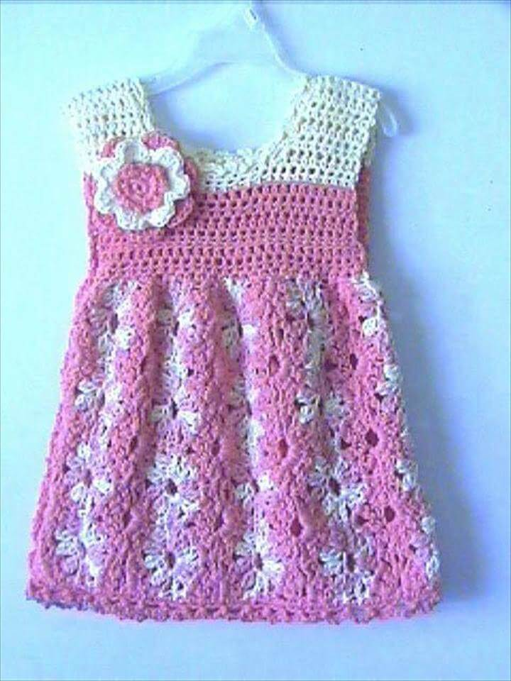 Toddler Girls Summer Dress Crochet Pattern: