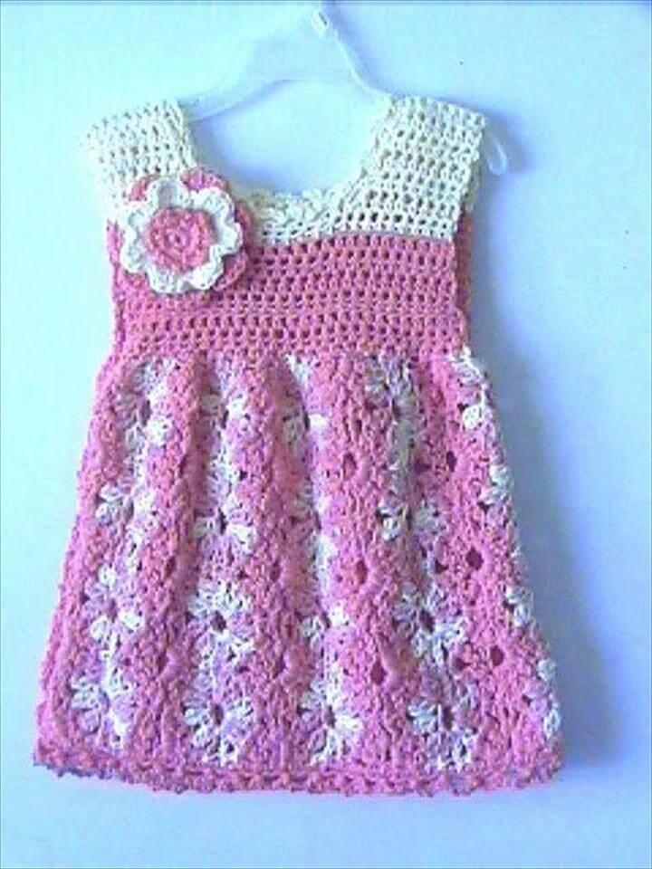 Toddler Girls Summer Dress Crochet Pattern: