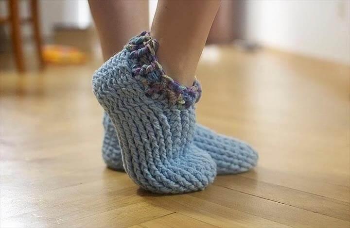 Adult Chunky Slippers crochet pattern