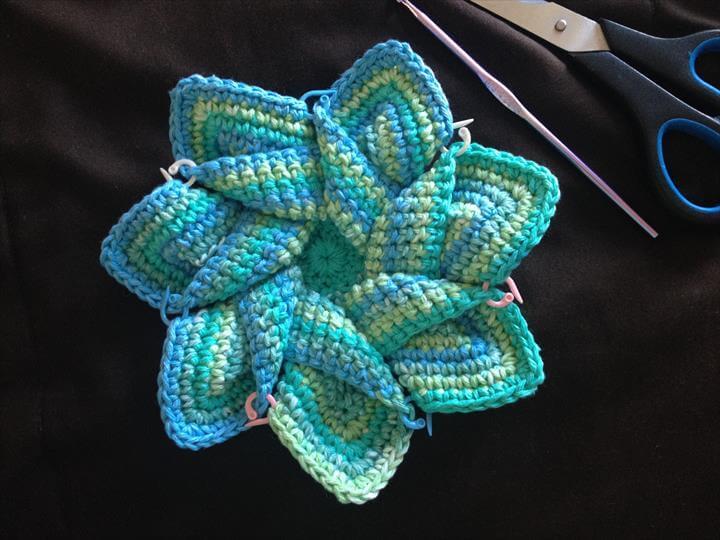 nice handade crochet flower