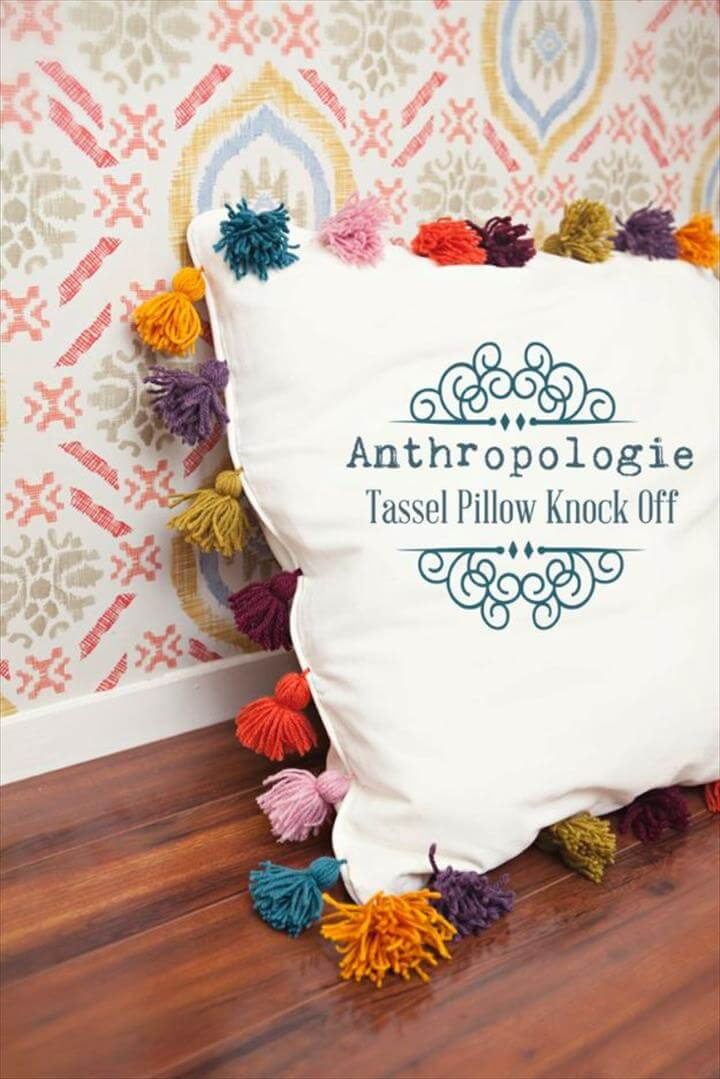 Anthropologie DIY Hacks, Clothes, Sewing Projects and Jewelry Fashion - Pillows, Bedding and