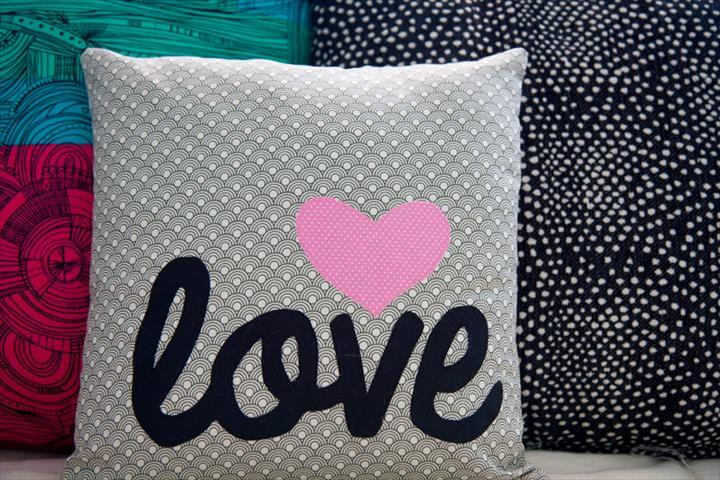 for Adults and Kids, Teens, Women, Men and Baby - Word Applique Pillow