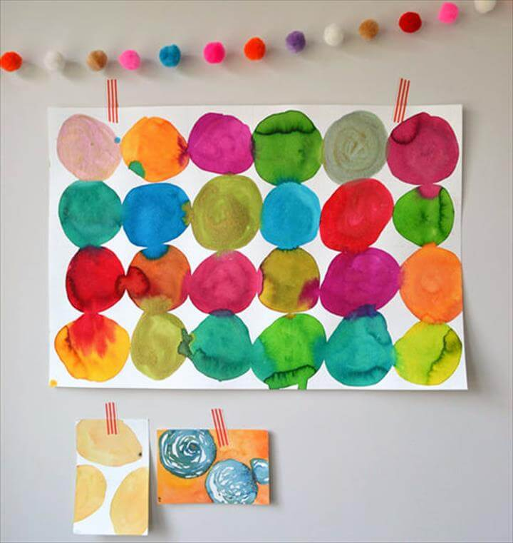 21 handmade great diy watercolor projects diy to make for Watercolor painting and projects