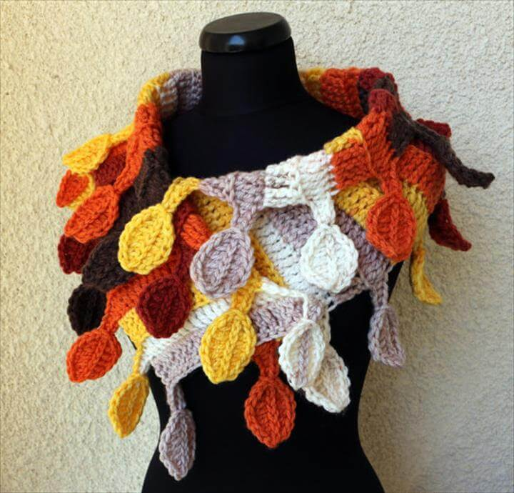Autumn Crochet Scarf Pattern Chunky Scarf Crochet Pattern
