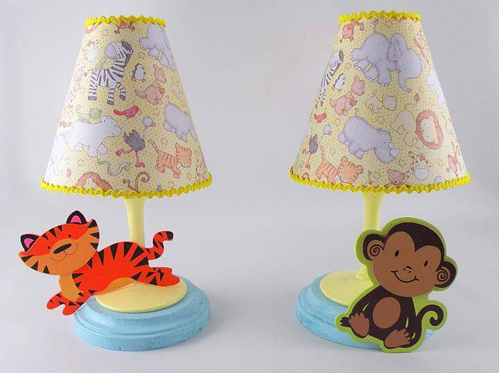 DIY Safari Animal Baby Lamps