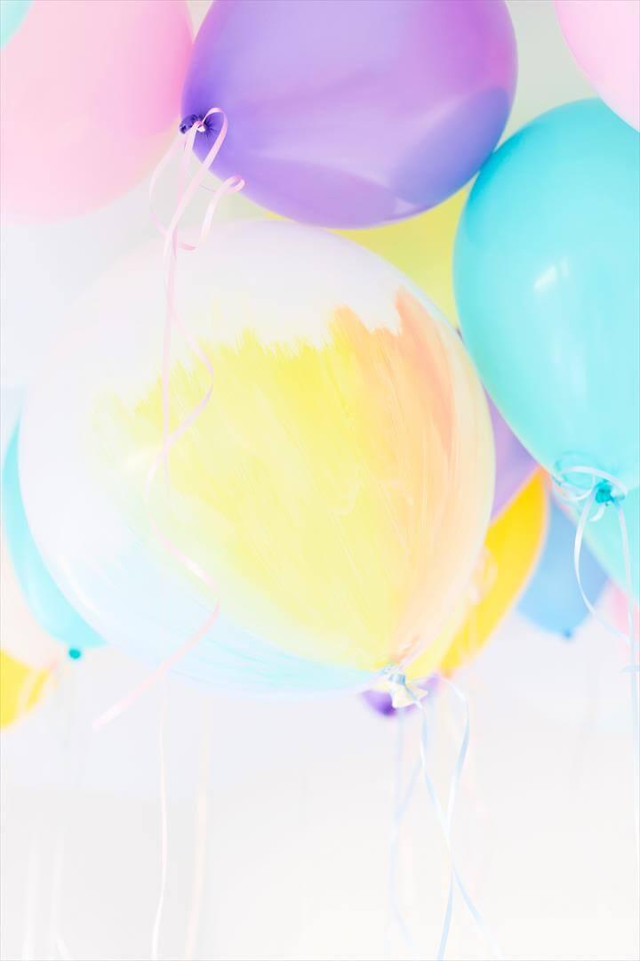 DIY Watercolor Balloons Pastel Watercolor Pastel Balloons ...