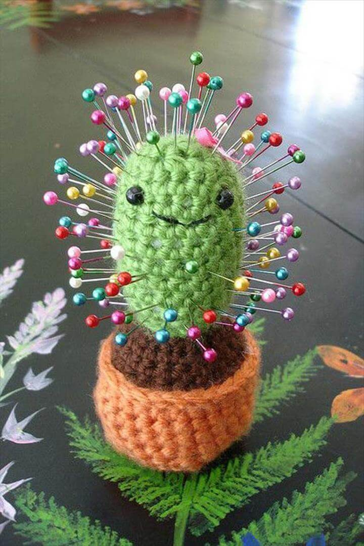 Crochet Patterns and Projects for Teens - Cactus Pincushion - Best Free Patterns and Tutorials for