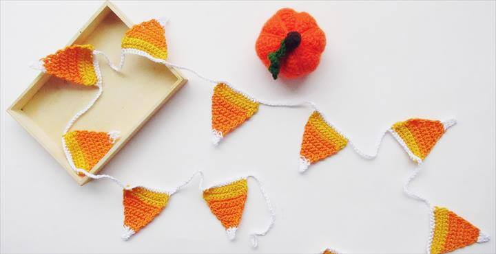 easy candy corn garland