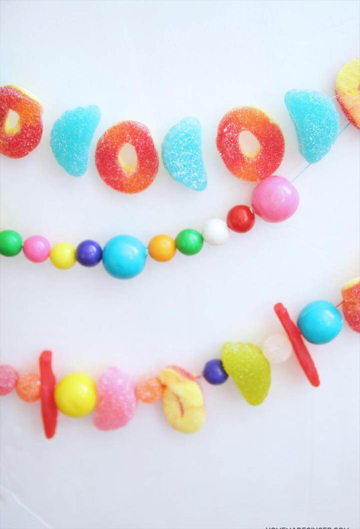 amazing candy garland