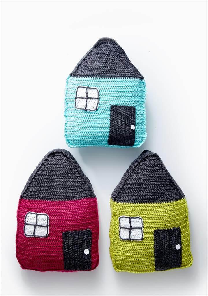Cozy Cottage Crochet Pillow