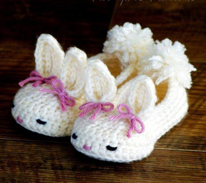 Crochet Baby Bootie Patterns bunny