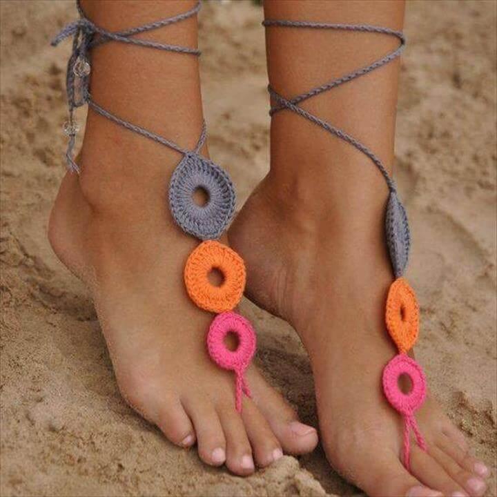 crochet berafoot sandals