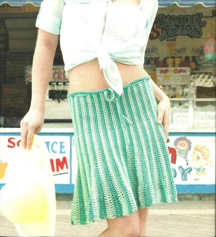 Daisy Crochet Skirt