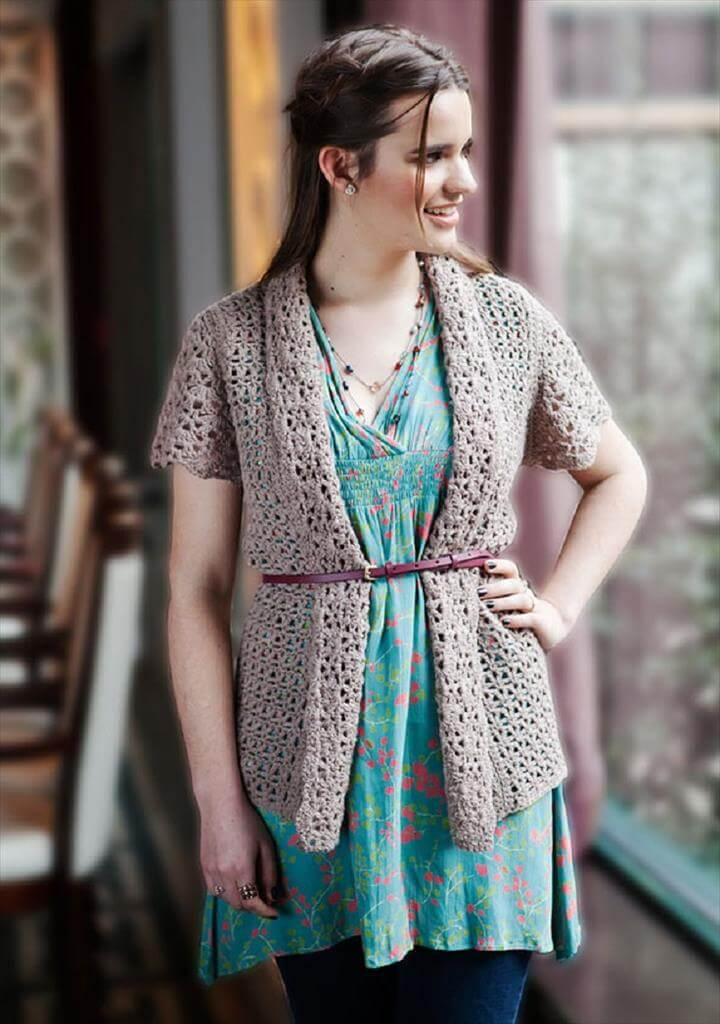 Free Crochet Patterns for Stylish Spring Inspired Cardigans