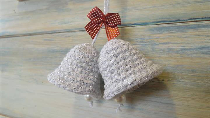 Crochet a Christmas Bell Decoration