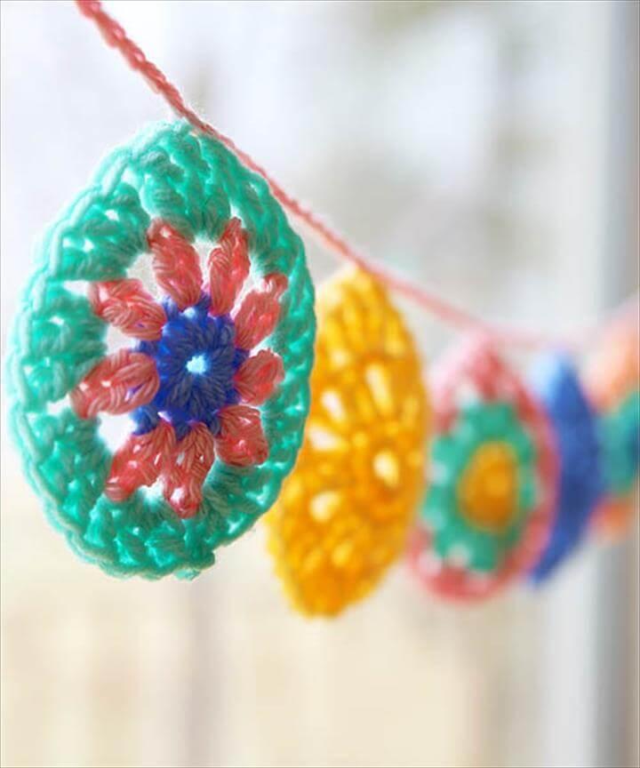 Crochet Egg Garland