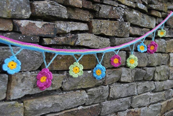 PDF Crochet Pattern – Flower Garland
