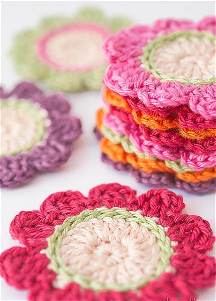 handmade colorful amazing crochet flower