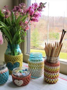 diy mason jar cover crochet pattern