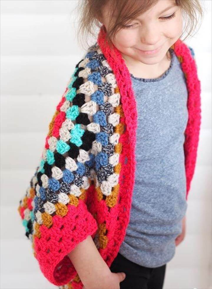 Crochet - Granny Square Shrug