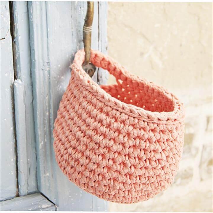 Hanging Basket - Rastercap Crochet
