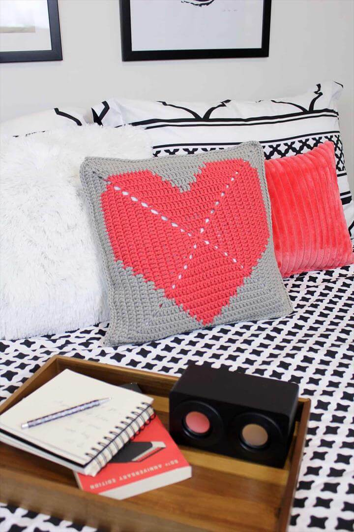 heart shaped pillow