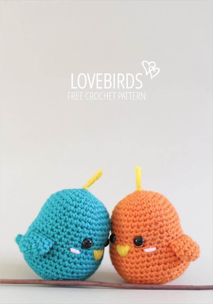 Crochet Lovebirds