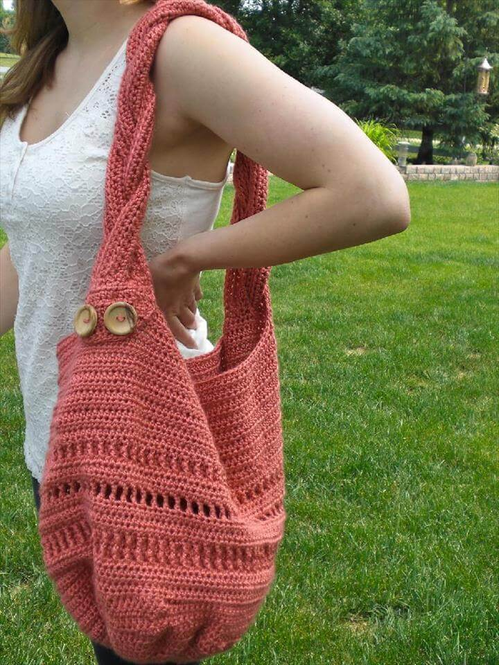 crochet patterns for spring: Summer Meadow Bag